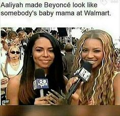 Compared to Aaliyah, Beyoncé is average.