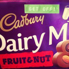 Label making fun #cadburys #getoff