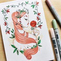 Poison Ivy Still working on a series of originals for a con in Germany in November by sibylline_m