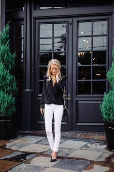 Black + White | Love the doors full of glass but not quite steel frame windows...