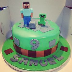 Mine craft cake!!