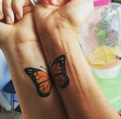 Together as a butterfly. Mother, daughter tats. Love!!!