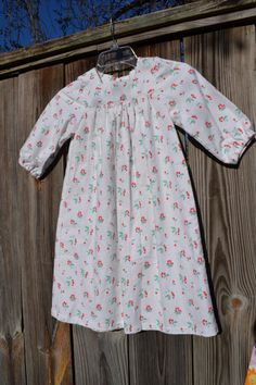 Cherry Flannel Pajamas for girl size 4 by love2sew on Etsy, $22.00