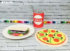 Feeling peckish? Learn how to make this Dovecraft foam food and fizzy drink with our kids craft tutorial with free printable templates