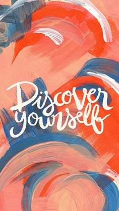 Discover yourself ♥ inspiration - phone wallpaper Cool Wallpaper, Mobile Wallpaper, Wallpaper Quotes, Wallpaper Ideas, Wallpaper Color, Watercolor Wallpaper, Phone Backgrounds, Wallpaper Backgrounds, Iphone Wallpaper