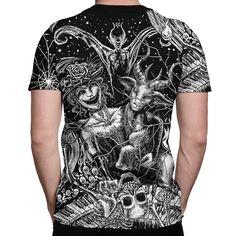Killstar Gothic Goth Okkult 3//4-Arm Raglan T-Shirt In Like Sin Baphomet Wiccan