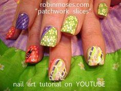 Pastel Retro Nail Art Design - Tut