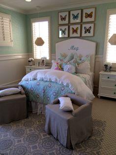 Butterfly bedroom idea for a little girl.