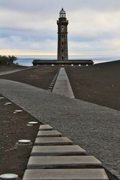 The abandoned Lighthouse of Capelinhos on Faial Island, Azores, Portugal.