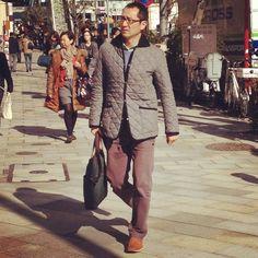 Tokyo preppy men's fashion winter