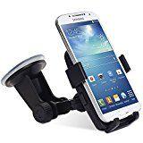 """inShang support voiture Avec Innovation """"One-Touch"""" Verrou automatique Support de téléphone mobile Cradle GPS pour Apple iPhone 7 / 7plus 6 / 6Plus 5 / 5S / 5C / 4 / 4S Samsung Galaxy S6 / S5 / S4 / S3 Etc."""