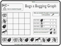 Bug Graphing from Teaching Heart's Bugs and Caterpillar Packet Prek-1.