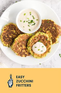 I created this recipe when we were growing our own zucchini at home. Now, those zucchini can't grow fast enough to keep up with how much we love the recipe! Whether you opt for yellow or green, you don't need to peel the zucchini for this recipe; simply grate on the large holes of a box grater, or feed through the grating blade of a food processor. These make a light meal or a lovely side dish. Whole Foods Vegan, Whole Food Recipes, Vegan Recipes, Vegan Casserole, Vegan Sour Cream, Cooking Courses, Loaded Baked Potatoes, Zucchini Fritters, Free Meal Plans