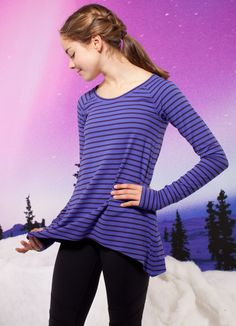 keep warm in class  in this cozy moisture–wicking top.    Practice Ready Long Sleeve
