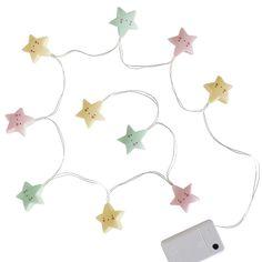 A Little Lovely Company - lichtslinger - string lights - ster - #pastel #kidsroom #littlethingz2