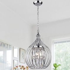 Richwood LED Globe Chandelier By Greyleigh Globe Chandelier, Chandelier Shades, Chandelier Lighting, Crystal Pendant Lighting, Globe Pendant, Chandelier Ideas, Bathroom Chandelier, Lantern Pendant, Bedroom Chandeliers