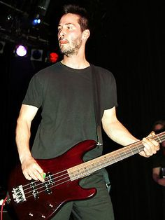 Bassists are often ignored, content to stand in the corner with their shades, but not Keanu Reeves, who played with his grunge band Dogstar. He helped to raise the humble bass player's profile. He also added the odd backing vocal as well. Sadly Reeves and the other band members have now gone their separate ways and Keanu went back to his zombie style of acting.
