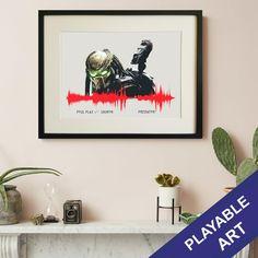 Predator Playable Soundwave Art Print - A3 / No frame
