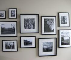 Gwen McAuley on planning a wall of photography.