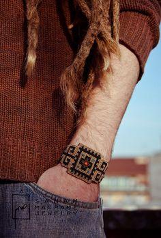 SANAM Persian rug pattern handmade macrame bracelet by SanamHandmade.