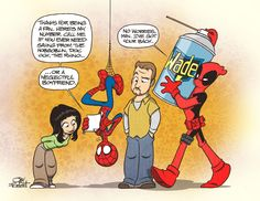 Images For > Deadpool And Spiderman