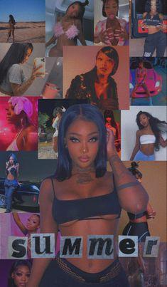Bad Girl Wallpaper, Mood Wallpaper, Cute Wallpaper For Phone, Black Girl Cartoon, Black Girl Art, Baby Pink Aesthetic, Black Girl Aesthetic, Black Aesthetic Wallpaper, Aesthetic Iphone Wallpaper