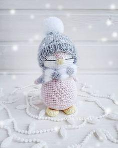 Mini Crochet Toys Amigurumi Christmas Felting Crochet Patterns Art Crafts Yarns Do Crafts Crochet Wool, Crochet Winter, Crochet Gifts, Cute Crochet, Amigurumi Animals, Knitted Animals, Amigurumi Doll, Crochet Animal Patterns, Crochet Patterns Amigurumi