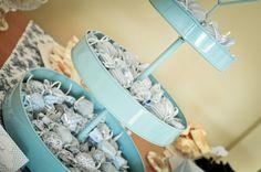 Chá de bebê em tons de Azul e Branco para Menina | Coisas da My [ Cat: festas cha de bebe  ]
