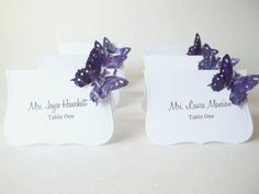 Purple Mixed Media Butterfly Card Wedding Place by LillyThings, $0.99-in champagne color