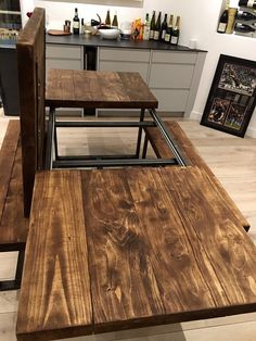 Reclaimed Industrial Chic 6-10 Seater Solid Wood Metal