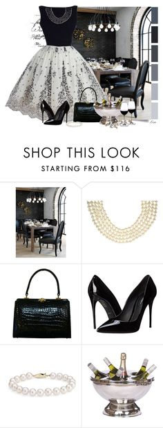 """Time to Dine"" by lmm2nd ❤ liked on Polyvore featuring CB2, Chanel, Dolce&Gabbana, Blue Nile, Riedel and vintage"