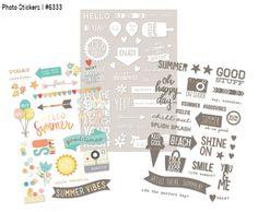 Photo stickers #simplestories  #SummerVibes