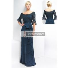 Fantastic Hunter Green Satin Floor-length Gown for Mother of the Bride http://pinterest.com/nfordzho/party-queen/