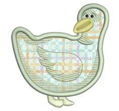 Free Embroidery Design: Applique Duck - I Sew Free