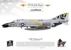 """UNITED STATES NAVY Fighting EIGHT FOUR (VF-84) """"The Jolly Rogers"""" USS INDEPENDENCE (CV-62), 1964"""
