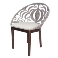 New Pacific Direct Inc Ambrosia Rattan Accent Chair - 1040002 Furniture, Leather Lounge Chair, Accent Chairs, Wholesale Furniture, Tropical Chairs, Chair, Chair Fabric, Rattan Chair, Contemporary Dining Chairs