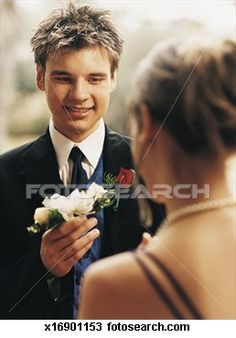 I'm love this pic of his date get her flower Bracelet for his wrist :)