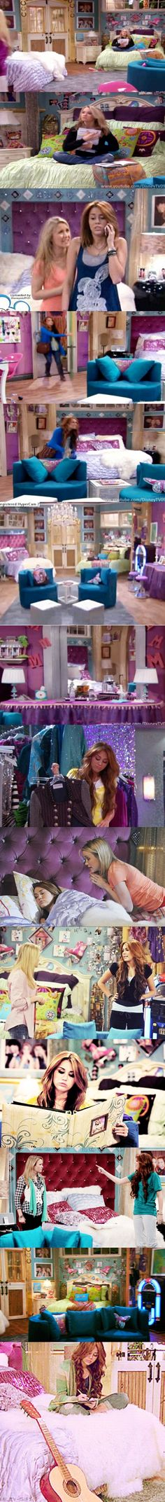 Miley and Lily's room in Hannah Montana Forever...It's not because it's HER room, but I've wanted to decorate my room like this.