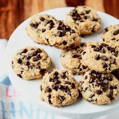 Soft-Baked Almond Flour Chocolate Chip Cookies recipe - These bendy melt-in-your-mouth gems are an incredible gluten-free dairy-free low-carb alternative to traditional chocolate chip cookies. Dog Treat Recipes, Healthy Recipes, Low Carb Recipes, Cookie Recipes, Dessert Recipes, Desserts, Paleo Dessert, Key Lime, Almond Flour Chocolate Chip Cookie Recipe