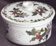 Portmeirion The Holly and The Ivy 1.50 Qt Round Covered Casserole