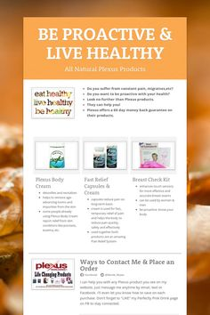 Make your own $$ by sharing the many health benefits of Plexus products. https://www.smore.com/qtvd