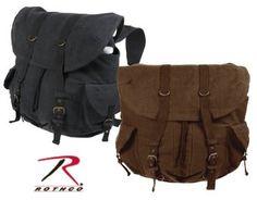 Amazon.com: Black Vintage Front Strap Backpack, Color Black: Clothing