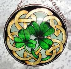 st patrick's day stained glass suncatchers - Google Search