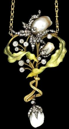 Art Nouveau Necklace by Guillemin Frères