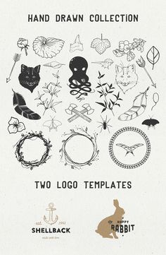 Sable kit 1, hand drawn #vector collection | #hipster #hand #drawn #freebie
