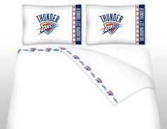Microfiber Sheet Set - NBA OKLAHOMA CITY THUNDER - TWIN FULL QUEEN KING #Sports