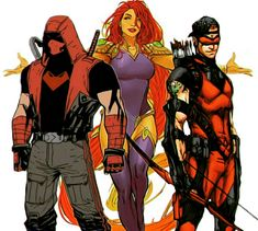 Red Hood and the outlaws Batman Art, Batman Robin, Comic Book Characters, Comic Books, Redhood And The Outlaws, Teen Titans Starfire, Red Hood Jason Todd, Roy Harper, Nerd