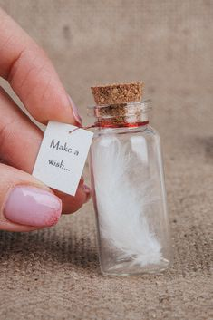 Make a wish Tiny gift Wish gift Wish bottle Message in a bottle Friendship gift Wishing bottle Personalized gift Girlfriend Boyfriend