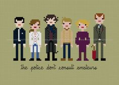 Sherlock Cross Stitch Pattern