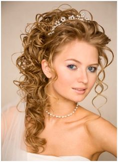 half up half down wedding hairstyles | Wedding Hairstyles for Long Hair with Tiara